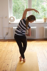 Chandrasana during a Vinyasa Flow Yoga Class in Berlin