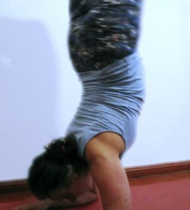 forearm stand to scorpion